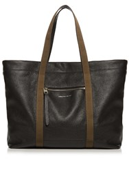 Alexander Mcqueen Contrast Strap Leather Tote Black Multi