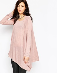 Religion Side Draped Long Sleeve Top Purple