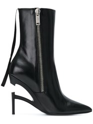 Unravel Project Zipped Heel Boots Black