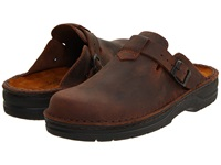 Naot Footwear Fiord Crazy Horse Leather Men's Slip On Shoes Brown
