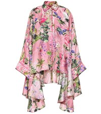 F.R.S For Restless Sleepers Printed Silk Satin Top Pink