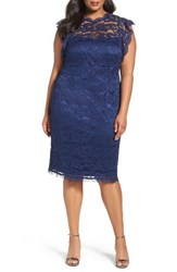 Adrianna Papell Plus Size Women's Lace Cocktail Dress
