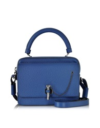Carven Malher Grained Leather Small Handbag Blue