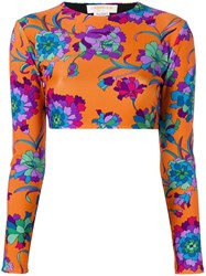 La Doublej Cropped Surf Top Orange