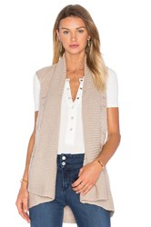 Splendid Pointelle Gilet Vest Tan