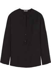 Maiyet Silk Crepe Top Black