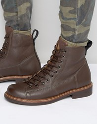 G Star Roofer Lace Up Leather Boots Brown