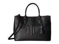 Lauren Ralph Lauren Anstry Double Zip Satchel Black Satchel Handbags