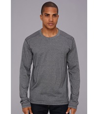 Prana L S Keller Crew Grey Men's Long Sleeve Pullover Gray