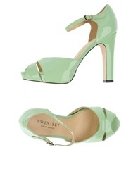 Twin Set Simona Barbieri Footwear Sandals Women Light Green