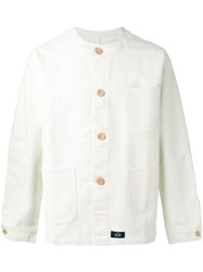 Bleu De Paname Multi Pockets Shirt Jacket Men Cotton L White