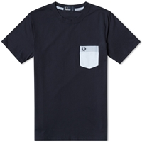 Fred Perry Woven Patch Pocket Tee Navy