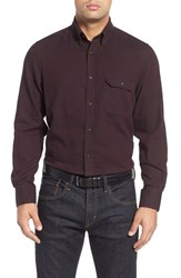 Nordstrom Men's Big And Tall Men's Shop Regular Fit Herringbone Sport Shirt
