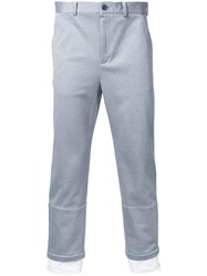 En Route Straight Cropped Trousers Grey