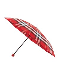 Burberry Trafalgar Packable Check Umbrella Parade Red Check