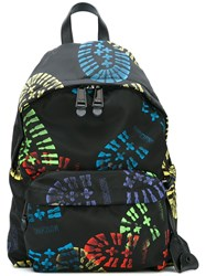 Moschino Boot Print Backpack Black
