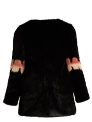 Shrimps Joseph Faux Fur Coat Black Multi