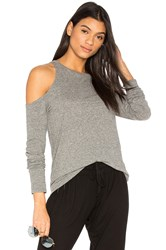 Pam And Gela Shoulder Cutout Tee Gray