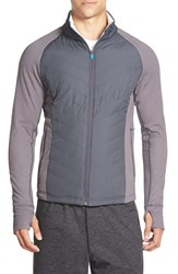 Men's Bpm Fueled By Zella 'Zelfusion' Moisture Wicking Mixed Media Jacket Grey Forged