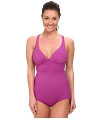 Lole Madeira One Piece Passiflora Women's Swimsuits One Piece Purple