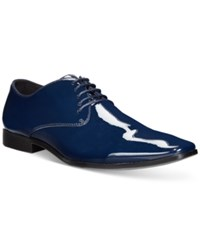 Bar Iii Joel Patent Derby Oxfords Only At Macy's Men's Shoes Navy