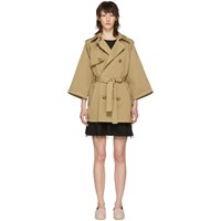 Red Valentino Beige Belted Short Trench Coat