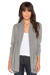 Leo And Sage Open Front Pocket Cardigan Gray