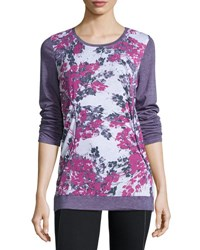 Marc New York Floral Print Long Sleeve Athletic Tee Btswt Hrvt