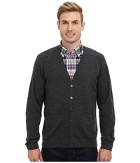 Pendleton Merino Cardigan Charcoal Men's Sweater Gray