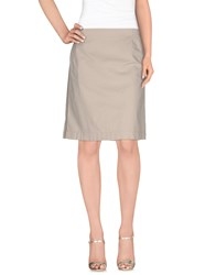 Fabiana Filippi Skirts Knee Length Skirts Women Beige