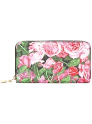 Dolce And Gabbana Rose Pink Print Long Wallet