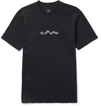 Oamc Printed Cotton Jersey T Shirt Black