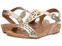 Easy Spirit Nyleen Gold Leather Women's Shoes