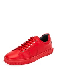 Salvatore Ferragamo Cube 13 Low Top Sneakers Red