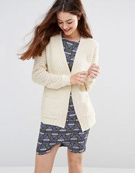 Sugarhill Boutique Faith Chunky Knit Cardigan Cream
