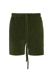 Hecho Cotton Terry Shorts Green