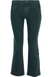 Red Valentino Low Rise Kick Flare Jeans Forest Green