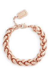 Karine Sultan Women's Braided Link Bracelet Rose Gold