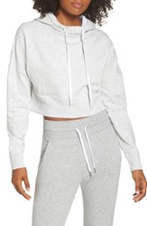 Zella Shorty Zip Back Hoodie Grey Light Heather
