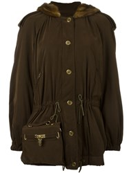 Moschino Vintage Bag Detail Coat Brown