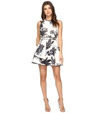 Keepsake Coming Home Mini Dress Abstract Floral Print Women's Dress White