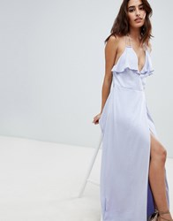 The Jetset Diaries Opal Wrap Maxi Dress Purple