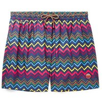 Missoni Mid Length Printed Swim Shorts Multi