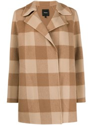 Theory Double Faced Check Coat 60