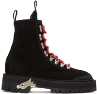 Off White Black Suede Hiking Boots