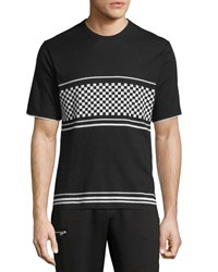 Ovadia And Sons Checker Jersey T Shirt Black White
