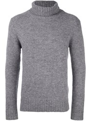 Closed Turtleneck Jumper Grey