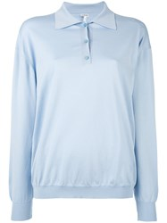 Loewe Knitted Polo Jumper Blue