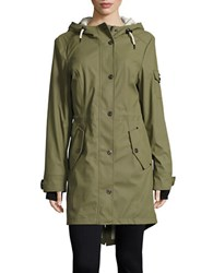 1 Madison Anorak Snap Front Jacket Cypress Green