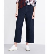 Diesel Flared High Rise Cropped Jeans 084Cg